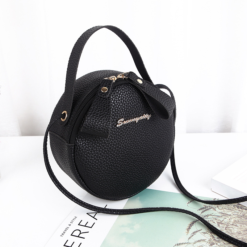2019 New Shoulder Bag Korean Version Of The Small Round Bag Mini Messenger Bag Ladies Handbag Shoulder Mobile Phone Bag