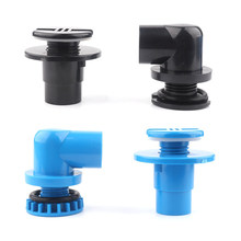 1pc PVC 20mm 25mm Aquarium Connector Aquarium Elbow Straight Joint Water Tank Drainage Aquarium Water Inlaat outlet(China)