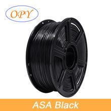 Filamento de ASA para impresora 3D, resitante UV de 1,75 Mm, 1Kg, Hilo de plástico, 10M, 100G, muestra, blanco y negro, naturaleza