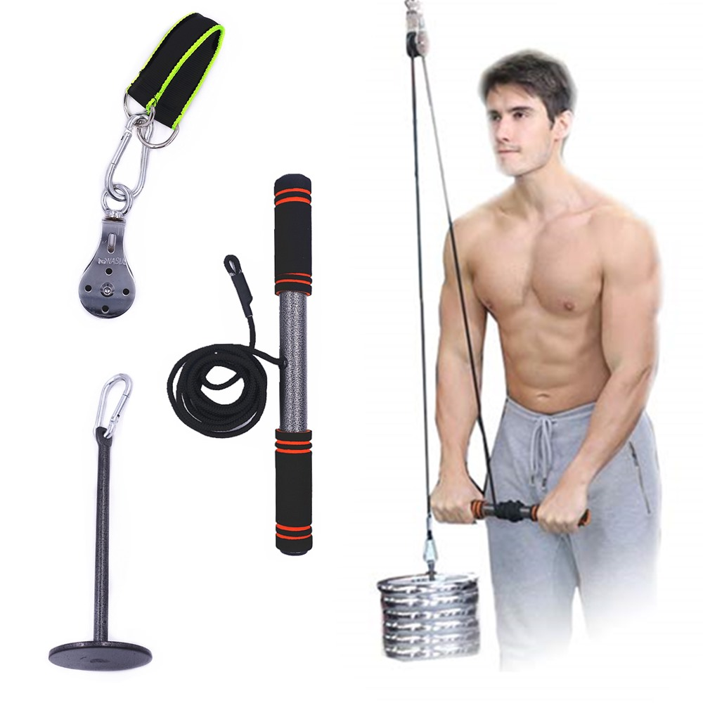 Fitness Arm Blaster Trainer Biceps Strong Power Stick Pull Rope For Gym Forearm Strength Chest Workout Wrist Roller Equipment