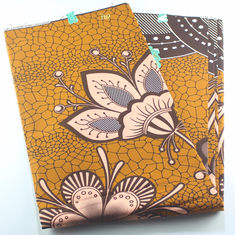 New African Lotus Printed Women DIY Cotton Fabric
