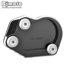 CNC New Motorcycle rninet CNC Aluminum Side Stand Enlarger Plate For BMW R NINE T 2014-2016 Motor Parking Kickstand Enlarge Pad цена и фото