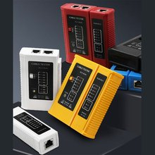 Network Cable Tester Multi-Function Tester Telephone Cable Checker Professional Rj45 Cable Lan Tester Network Cable Tester nf 8601 multi functional network cable tester lcd cable length tester breakpoint tester english version
