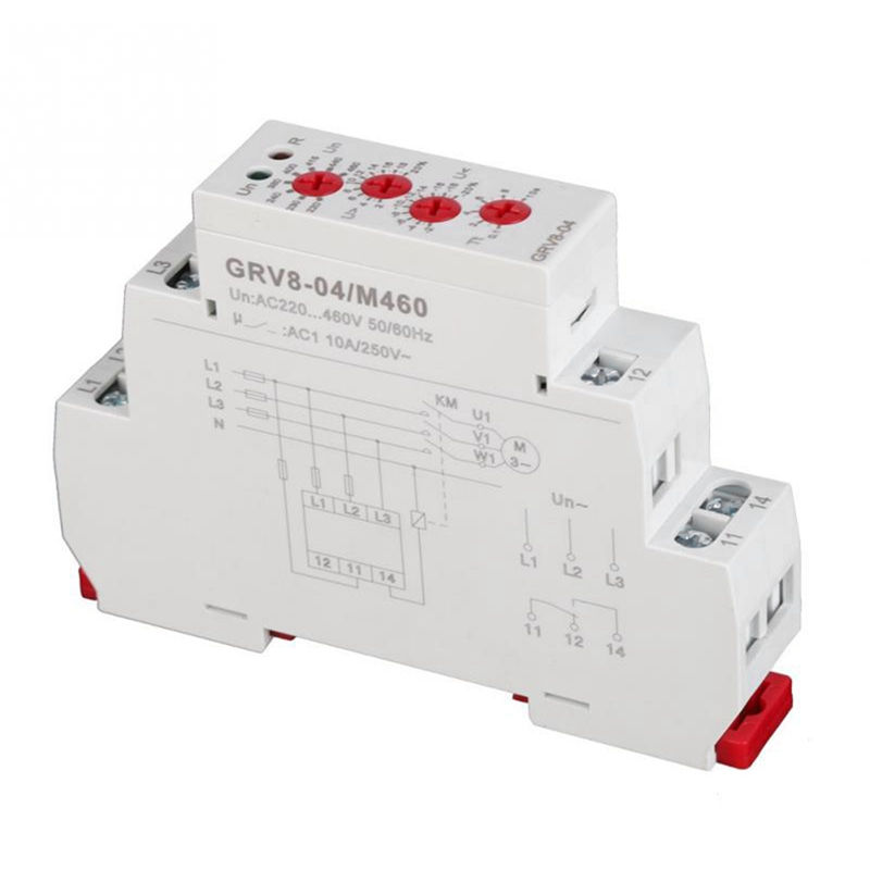 GRV8-04 3-Phase Voltage Monitoring Relay Voltage Control Relay