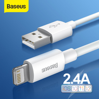 Baseus USB Cable for iPhone 7 6 Charger USB C Cable QC 3.0 Fast Charging Type-C Cable for Samsung S10 S9 Wire for Huawei Xiaomi