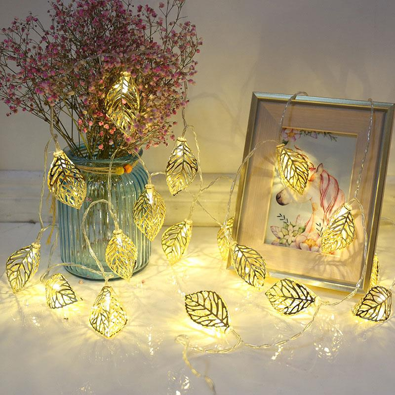 Durable Christmas Light Metal Home Garden Decor 10 Leds Romantic Fairy String Light Party Decoration Wedding Neon Lantern 1.5M