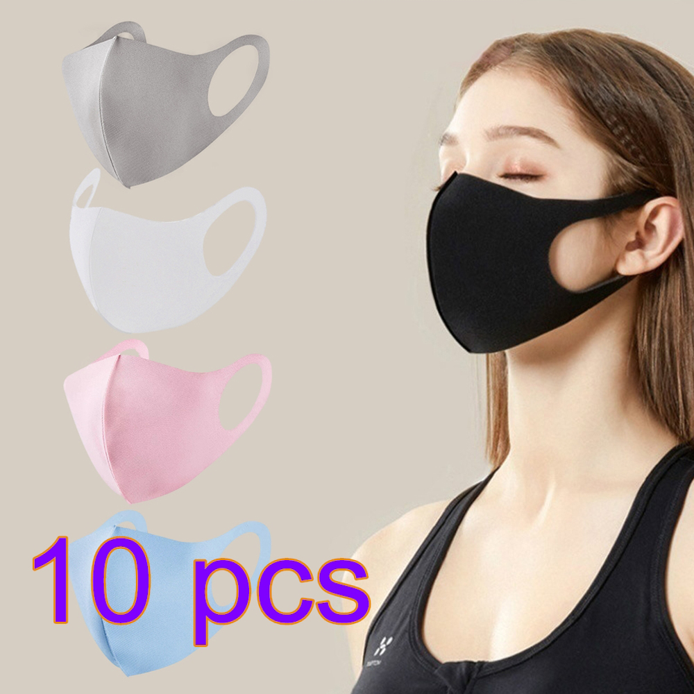 10 PCS Anti Pollution Mask Face Shield WindProof Mouth Cover Face Mouth Mask Cover Respirator Cycling Anti Dust Mask