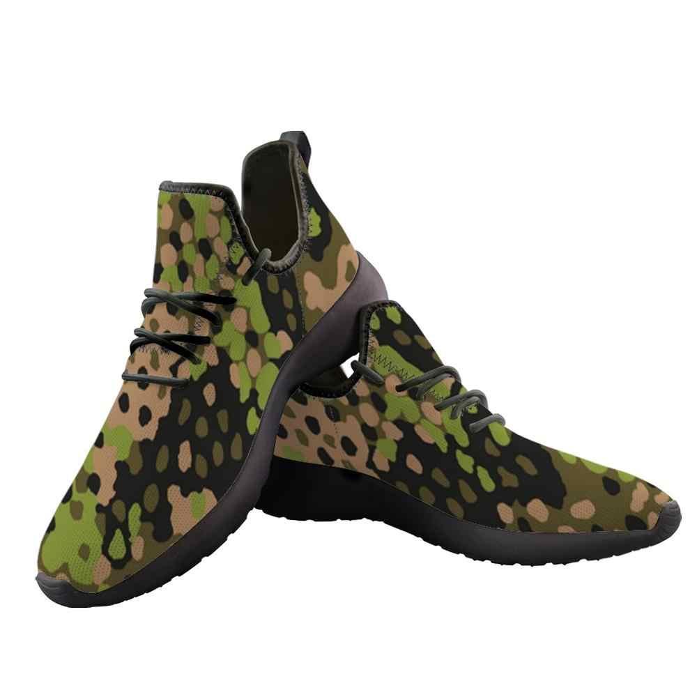 Elviswords 2019 Vulcaniseer Schoenen Print On Demand Camouflage Mannen Dikke Bodem Knit Mesh Sneakers Casual Flats Voor Tiener Grote Maten