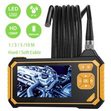 Industrial Handheld Endoscope 1080P HD Waterproof Home Video Borescope 8mm Inspection Snake Camera with 4.3 Inch LCD Screen купить дешево онлайн