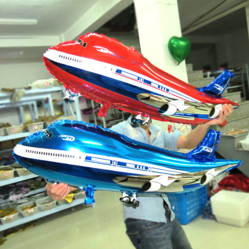 82x42cm Large Airplane Balloons Plane Shaped Ballons for Boys Toys Baby Shower Birthday Party Decorations Xmas Kids Gift image