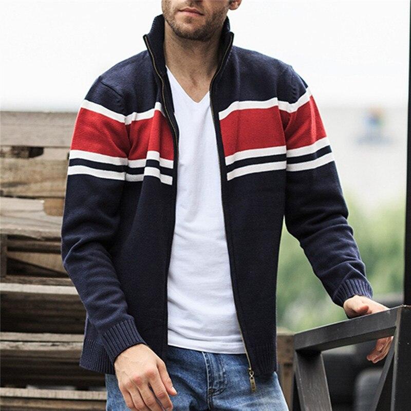 Solid Zipper Sweater Coat for Men Zipper Spring Winter Beige Coat Men Casual Long Sleeve Sweatshirts Male Jackets #2g15 (10)