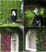 Nuovi sacchetti per piantare appesi a parete forniture da giardino Multi tasche borsa da coltivazione nera fioriera verticale borse per la casa