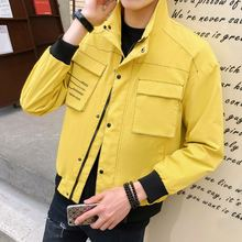 2019 New harajuku jacket men turn-down collar autumn letter printed homme fashion jackes plus size M-XXXL male clothing cargos