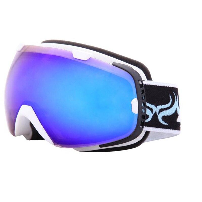 Lunettes de Ski sphériques Anti-buée Protection Double couches grandes lentilles lunettes hommes femmes lunettes de neige Ski UV400 Snowboard lunettes - 6