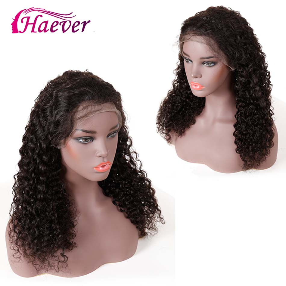 Natural Deep Wave Wig 13x4 Lace Front Human Hair Wigs Pre Plucked Brazilian New Hair Lace Front Wig With Baby Hair Haever Remy