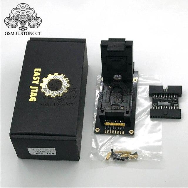 Ufs bga 254 soquetes adaptador para fácil jtag mais caixa