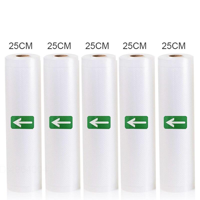5 Rolls/Lot Kitchen Food Vacuum Bag Storage Bags For Vacuum Sealer Vacuum Packaging Rolls 12/15/20/25/28cm*500cm