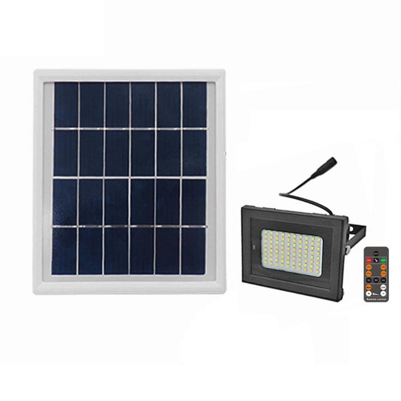 80LEDs Solar Lawn Lamp Solar Powered Remote Control Waterproof Outdoor Landscape Lighting Solar LED Flood Light Night Lighting