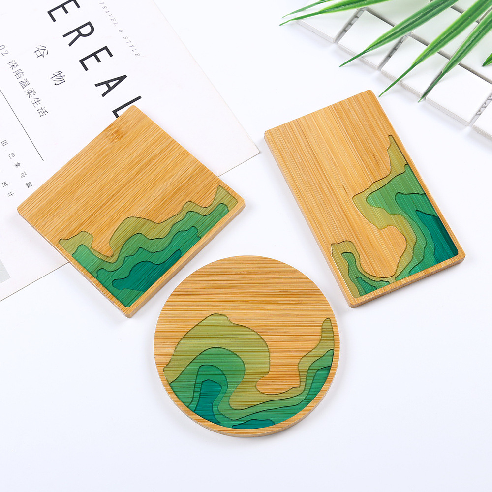 Wooden Dish Mold Beach Island Nature Sea Coast Plate Mold Epoxy Resin Crafts Blossom Tray Epoxy Resin Crafts DIY Resin Supplies