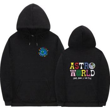 Fashion Travis Scott Hoodie Male Female Hip Hop Streetwear Wearing off white Hooded Sweatshirt hoodie jogging homme