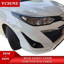 Kopf Lichter Abdeckung Für Toyota Yaris Fließheck Limousine 2018 2019 Zubehör Front scheinwerfer Lampe Haube Teile Für toyota yaris Ycsunz