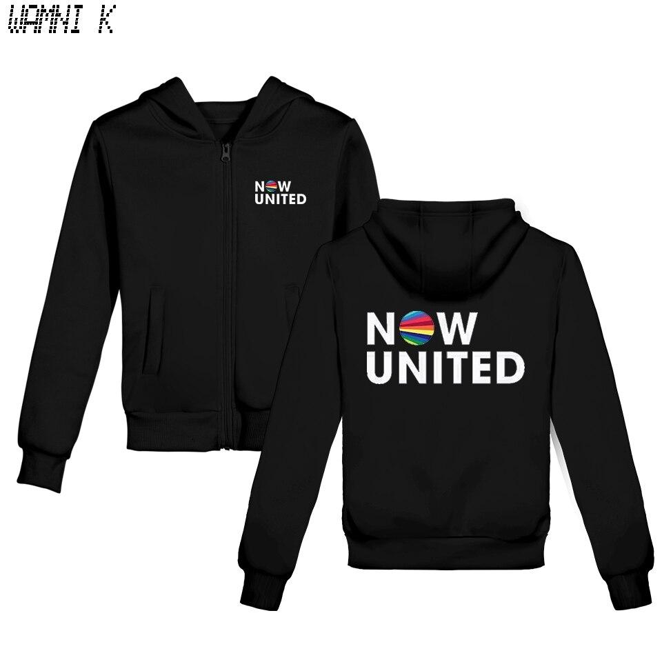 WAMNI 2020 Now United - Better Album Kids Zipper Hoodie Sweatshirts Boy Girl Better Now United Lyrics  Harajuku Tracksui