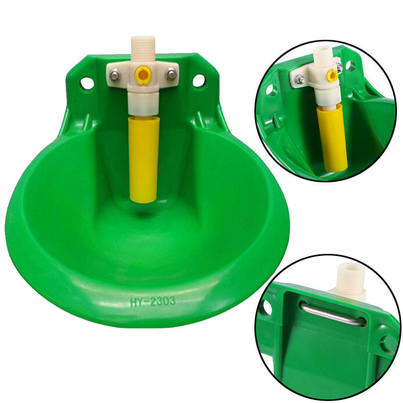 0.6L Plastic Automatic Water Bowl Trough Horse Cow Dog Drink Sheep Goat Tool