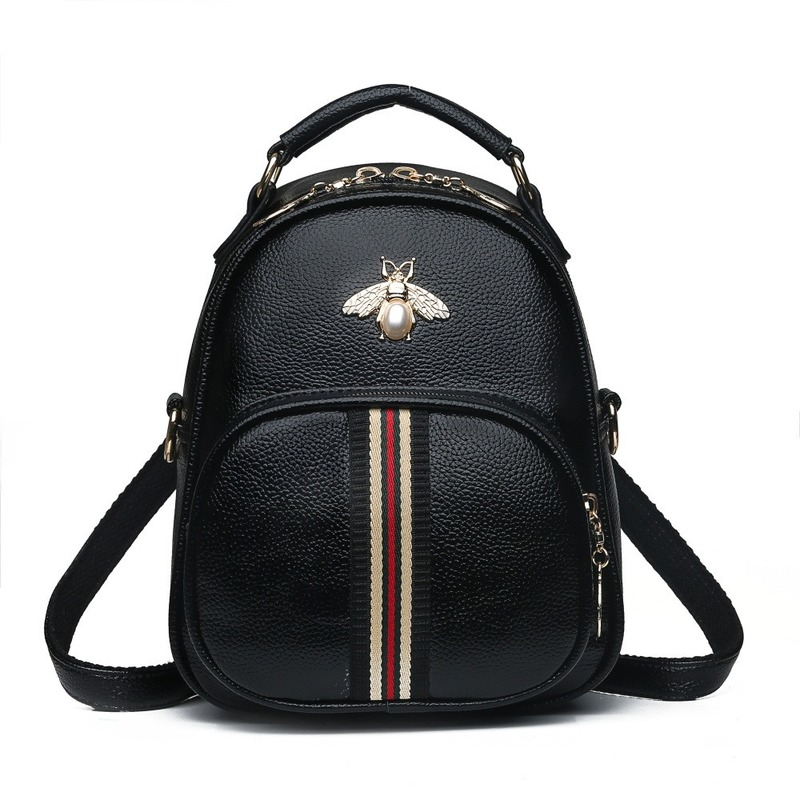 Fashion Small Women Blackpack Pu Leather Backpacks For Women Shoulder Bag Waterproof Shopping/Commute Woman Backpacks