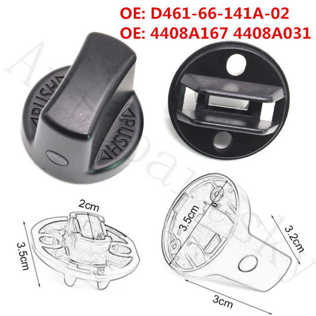 $ 13.79 New Ignition Key Push Turn Knob & Ignition Switch for Mazda for Mitsubishi Outlancer Lancer 4408A167 4408A031 D461-66-141A-02