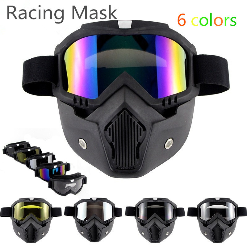 Winter Full Face Ski Mask Riding Mask Snow Sport Goggles Snowboard Snowmobile Face Mask Sun Glasses Bicycle Accessories