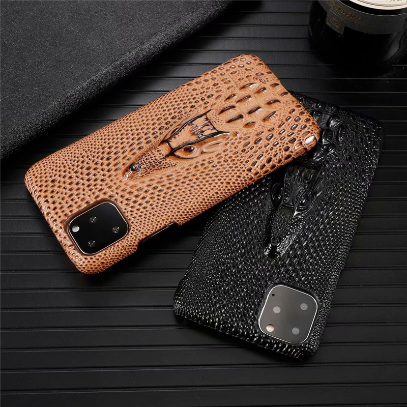 Genuine Leather Cow Hide Stereoscopic 3D Case for iPhone 11/11 Pro/11 Pro Max