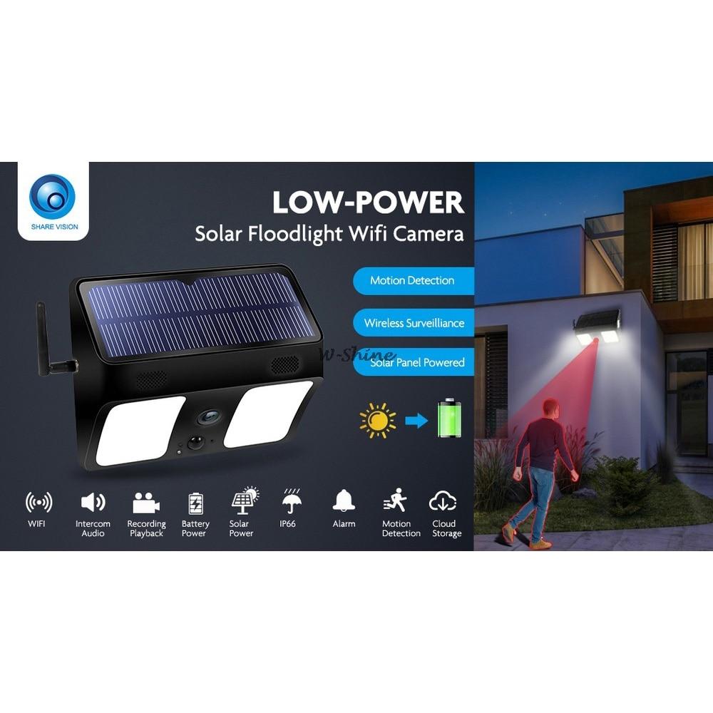 2 em 1 led luz solar wifi
