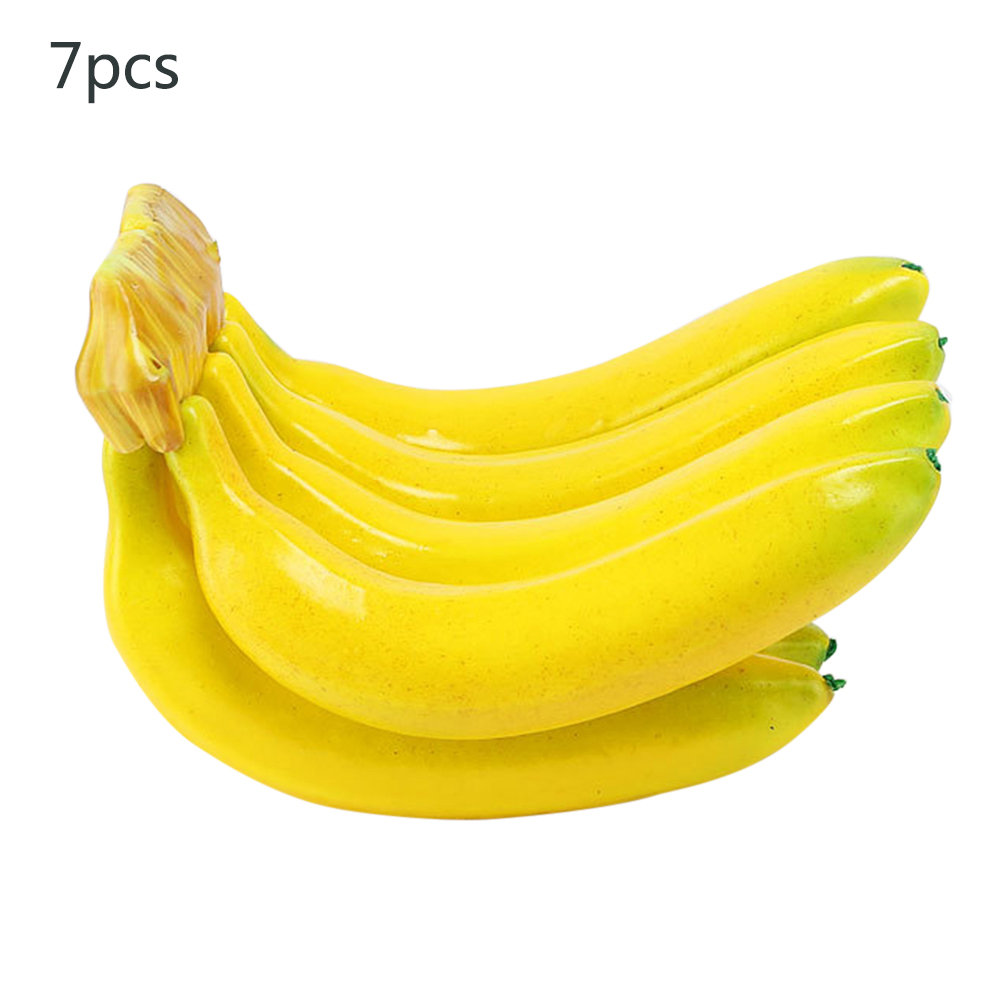 3/7pcs Lifelike Artificial Banana Fake Fruits Cognitive Teaching Aids EVA Plastic Fruit For Store Shop Realistic Display Prop