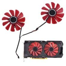 2 pçs 85mm RX-570-RS RX-580-RS FD10U12S9-C ventilador para xfx rx470 rx570 rs rx580 rs placa gráfica de vídeo substituição de refrigeração