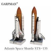 34cm 1:150 Space Shuttle Atlantis Paper Model Puzzle Manual Spaceflight Rocket DIY Paper Art Toy