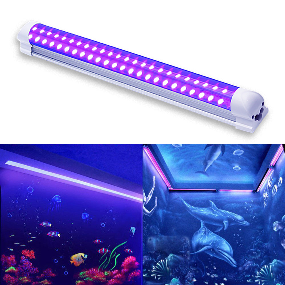 LED UV Black Light Fixtures 10W DJ Strip Lights Effect Led Stage Purple Integrated Tube For Disco Bar Club Party Body Paint