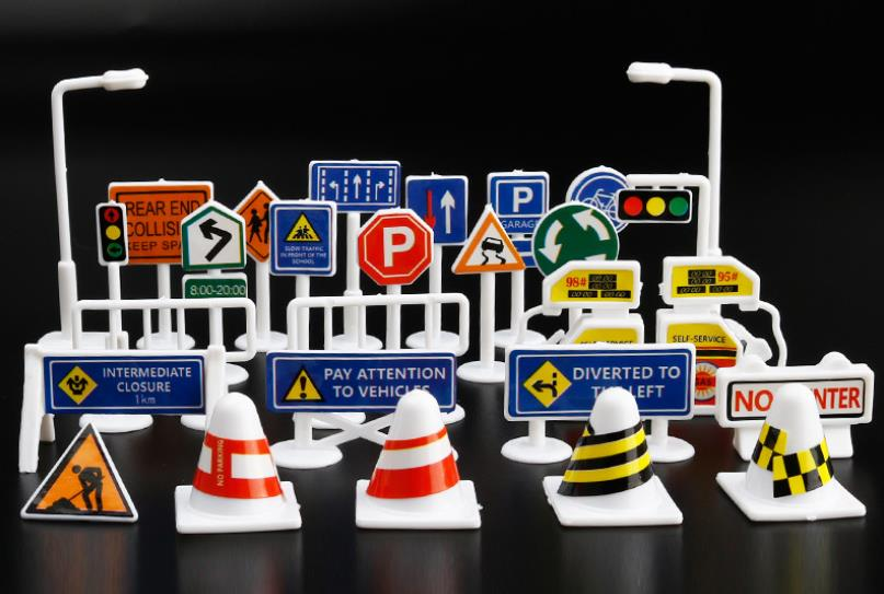 28PCS traffic sign