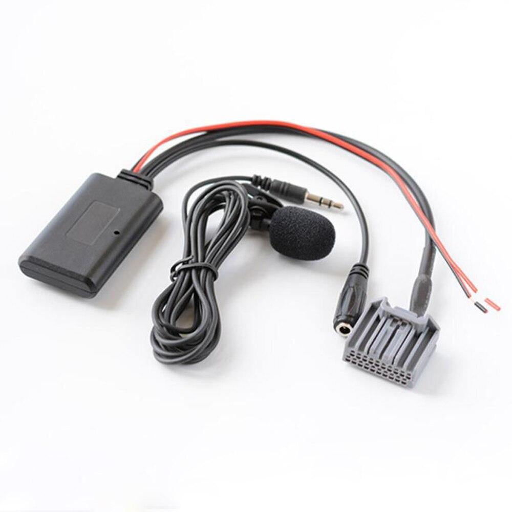 Biurlink bluetooth aux cabo microfone kit adaptador para honda civic para crv para accord sem fio bluetooth adaptador de música