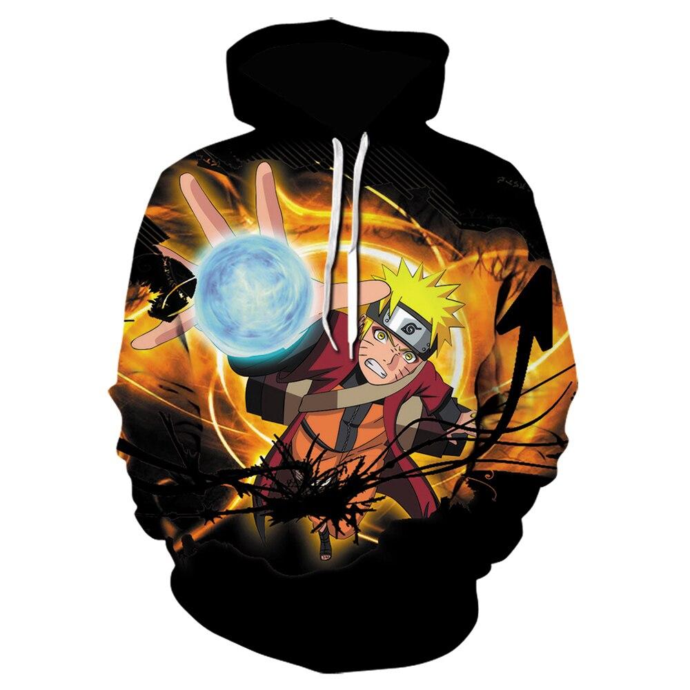 Naruto0 Manga Hoodies Uzumaki Uchiha Sasuke Kakashi Gaara Hooded Sweatshirt