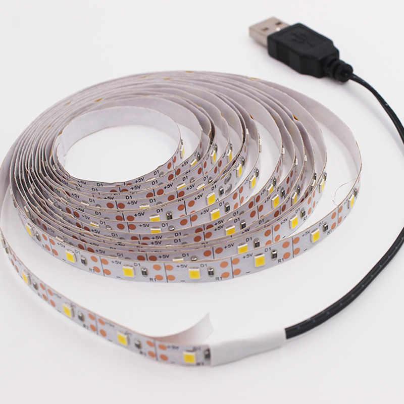 DC 5V 1M 2M 3M 4M 5M Usb-kabel Power LED strip licht lamp SMD 2835 Kerst bureau Decor lamp tape Voor TV Achtergrond Verlichting