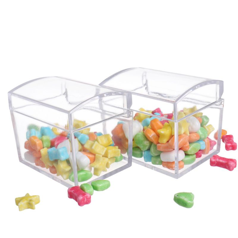1/6/12Pcs Kids Infant Transparent Candy Gift Container Bottle Jar With Lid Baby Shower Gift Decoration Small Item Storage Box