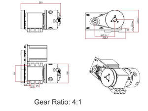Image 5 - Nema 34 stepper motor (4:1)(K11 100mm) chuck 100mm CNC 4th achse (A aixs, drehachse) + Reitstock für cnc router