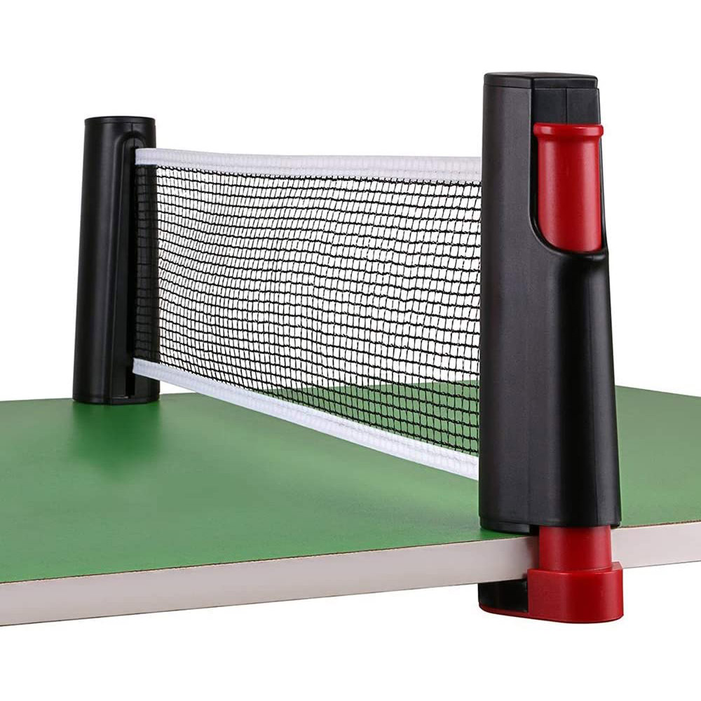 New Portable Ping Pong Net Rack Retractable Table Tennis Net Rack Ping Pong Accessory Ping Pong Net Rack With 1Pair Table Tennis