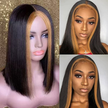 150% 13x6 Lace Front Human Hair Wigs For Women #27 Highlight