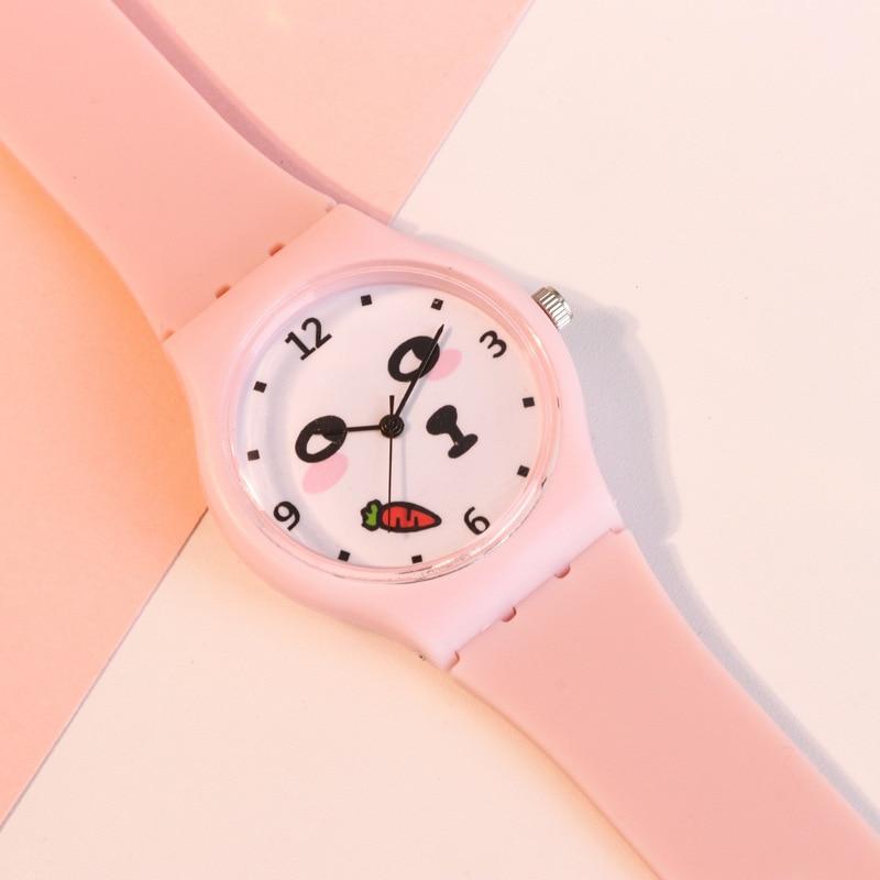 Montre Enfant Kids Watches Girls Flamingos Silicone Quartz Wrist Watches Children Cute Cartoon Watch Girls Gifts Coloring Clock