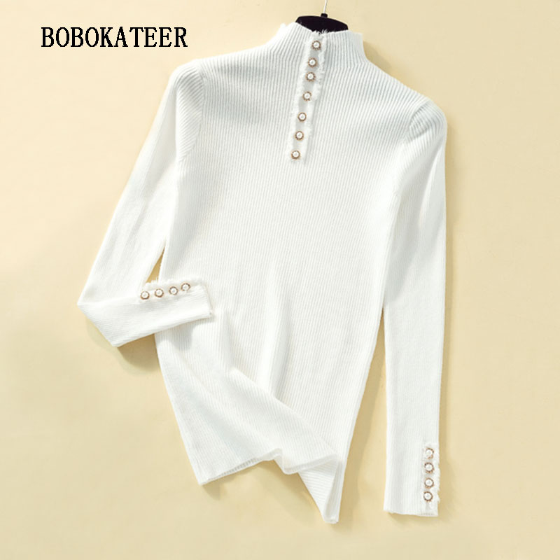 2019 pullover women trui cashmere sweater women sweater knitted swetry damskie truien dames turtleneck winter christmas sweater in Pullovers from Women 39 s Clothing