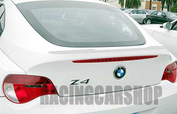 Bmw z4 e86 z4m 쿠페 용 도색되지 않은 트렁크 립 스포일러 2003-2008 b150f