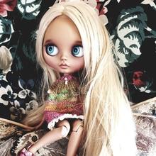 Factory Neo Blyth Doll Customized Matte Face,1/6 BJD Ball Jointed Doll Blyth Dolls for Girl,Reborn Baby Born Toys for Children G long hair blyth doll light golden 1 6 bjd doll blyth dolls diy change toy