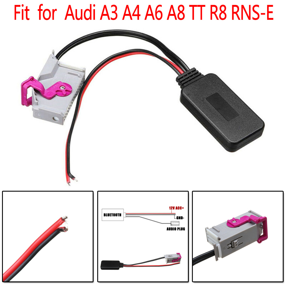 Wireless Bluetooth Aux Adapter 32PIN Aux Cable Music Audio Receiver for For Audi A3 A4 A6 A8 TT R8 RNS-E