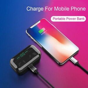 Image 3 - 3500 мА/ч, g6s наушники вкладыши tws bluetooth 5,0 беспроводной зарядки наушники 8d стерео гарнитура для iphone 11 pro max samsung note10 + huawei p30 pro